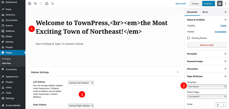 TownPress - WordPress Theme Documentation